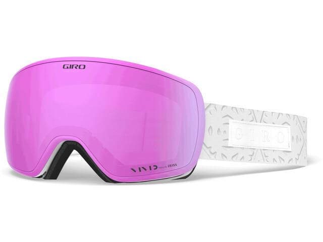 Giro Eave Lunettes De Protection, white flake/vivid pink/vivid infrared